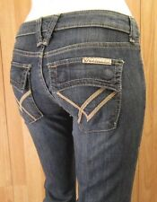 AUTHENTIC WILLIAM RAST BLACK ROYALE BELLE FLARE LEG WOMEN JEANS SZ 25 X 32.5