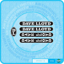 Dave Lloyd - Bicycle Decals Transfers Stickers - Set 1