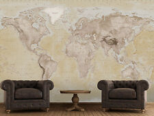 Wall mural wallpaper 315x232cm Political Map of the World home walls photo decor