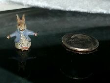 Rare Austrian Vienna Cold Painted Miniature Bronze Rabbit Blue Beatrix Potter