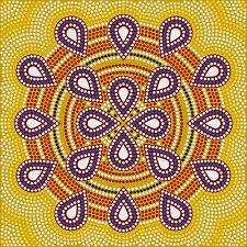 aboriginal painting dot energy art print canvas 100cm x 100cm