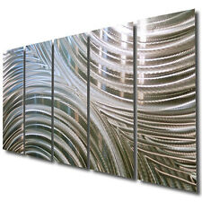 Modern Silver Huge Abstract Metal Wall Art Sculpture Home Decor Jon Allen