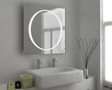 Illuminated Bathroom Mirror with Sensor, Shaver and Demister - Orb - c54