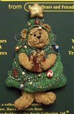 BOYDS BEARS PIN, FRASIER Q. PEEKERS, OH CHRISTMAS TREE