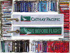Cathay Pacific keyring tag keychain REMOVE BEFORE FLIGHT Hong Kong B747 B777