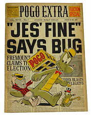 Pogo Extra Election Special  SIGNED W/ CARTOON BY WALT KELLY ~ 1st Edition 1960
