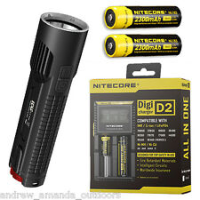 Nitecore EC4S 2150Lm Flashlight XHP50  w/2x NL183 18650 Batteries & D2 Charger