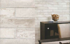 Brick Stone Wallpaper Beige Cream Prepasted Washable