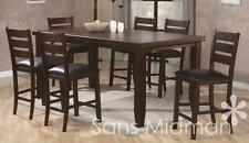 """NEW! Barlow Dining Room 9 piece Furniture Set 36""""H Table w/leaf & 8 Chairs"""