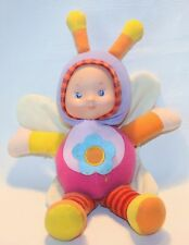 Baby Doll BUMBLEBEE COSTUME Vinyl Face CRINKLE WINGS Rattle PLUSH STUFFED Toy