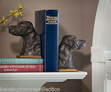 BOOKENDS - LABRADOR RETRIEVER BOOKENDS - BRONZE FINISH LAB BOOKENDS - BOOK ENDS