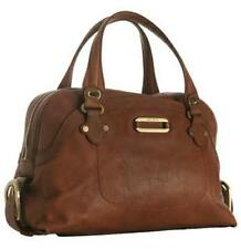 Jimmy Choo TOGO Brown Leather Bowler Satchel Tote Shoulder Bag $1595