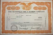 1975 Stock Certificate: 'The Mansfield Tire & Rubber Company' - Cleveland, Ohio