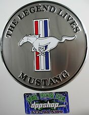 ford mustang legend lives round sign tag race shop car parking 25th GT boss part