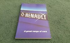 1979 1978 RENAULT UK RANGE BOOK BROCHURE 4 5 6 12 14 16 15 17 18 20 30 Aug 1978