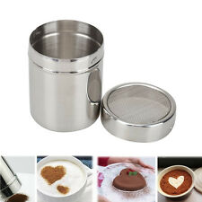 Silver Stainless Chocolate Shaker Icing Sugar Salt Cocoa Flour Coffee Sifter Hot