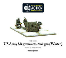 WARLORD GAMES BOLT ACTION NUOVO CON SCATOLA US ARMY 57mm anticarro PISTOLA M1 (INVERNO) wgb-wai-28