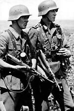 WWII  Photo German Troops in Action MP38  WW2 World War Two Wehrmacht  / 2117