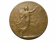 Art Nouveau IN EO PATRIAE SPES Marianne 1894 Bronze Medal by Alfred BORREL. M34