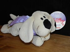 With Tags TESCO SCAMP PUPPY DOG SOFT TOY CREAM COMFORTER BABY PUP
