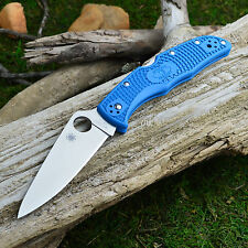 Spyderco Endura 4 Flat Ground Blue FRN Handle Knife VG-10 C10FPBL