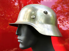 Elite German WW2 M35 Chrome COMBAT Helmet Stahlhelm 1939 Dated Pins WWII Parade