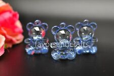 18 PCS Baby Shower Favors Teddy Bear Charms Blue Pink Party Decorations Girl Boy