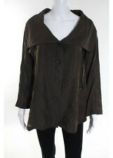 NWT REDWOOD COURT Brown Long Sleeve Collared Jacket Sz S