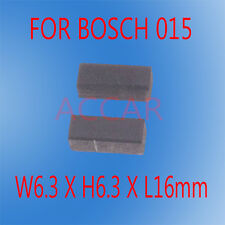Carbon Brushes For Bosch 015 Grinder Drill Sander Jig Saw 6.3X6.3X16mm CSB400-2