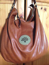 Mulberry Daria Hobo Large Oak Spongy Pebbled Leather Single Strap Zipper Gold
