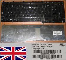 Clavier Qwerty UK Toshiba Qosmio G50 / F50 NSK-TB80U 9Z.N1Z82.00U 9J.N9282.80U