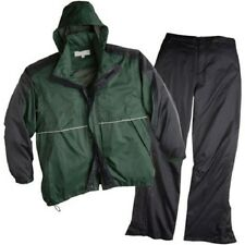 New ShedRain Golf Sports Rain Suit BLACK GREEN Jacket Pants Large UNISEX