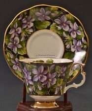 DISCONTINUED ROYAL ALBERT PROVINCIAL FLOWERS PURPLE VIOLETS CUP & SAUCER SET