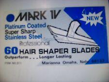 60 pc Barber shaving single edge Blades Hair Shaper super sharp By Mark IV JAPAN