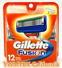 GILLETTE FUSION  RAZOR BLADES 12 Cartridges,100%AUTHENTIC,***ON SALE*** #0KA