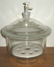 "Glass desiccator vacuum jar lab dessicator dryer 8"" New"