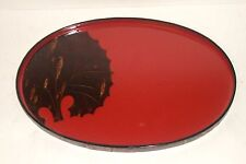 JAPANESE CHERRY BARK WORK HANDMADE LACQUER OVAL TRAY