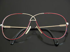 Vtg 80s CAZAL Eyeglasses Sunglasses Frames 2-Tone Wire Rim Glasses Red Gold