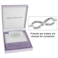 Equilibrium Silver Plated Infinity Bangle Friends Brand New In Gift Box 54386