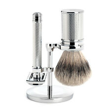 Muhle R41 Closed Comb Double Edge Chrome Safety Razor & Silvertip Shaving Brush