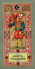 Turkey old label glazed Turkish man with sword,  pretty color & art, RARE * #011
