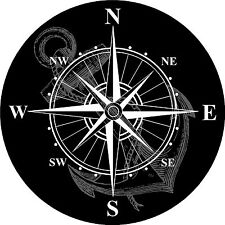 Nautical Rose Compass Waterproof Vinyl Boat Car Van Wall Sticker Decal LSC2