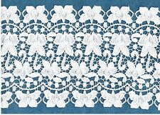 """8"""" Guipure Venise Lace Bridal Satin Heavy Butterfly Trim  By Yard #E100"""