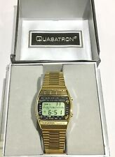 NEW OLD STOCK QUASATRON BY ARMITRON WORLD TIME DUAL MELODY BLACK LCD MENS WATCH