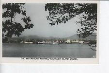 The Waterfront, Nanaimo, Vancouver Island, Color Tinted RPPC POSTCARD!