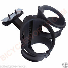 Bicycle Seat Rail Twin Cage Mount Dual Drink Bottle Holder Water Clamp On Bidon