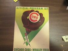 1958 Chicago Cubs  Program against the  San Francisco Giants (Willie Mays)