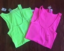 NWT! Victorias Secret PINK Ribbed TANK TOP SET SZ XS (2) **FREE GIFT**