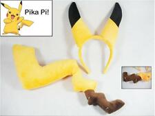 2016 New Cute Cosplay Pokemon Pikachu Ears and Tail Dress Up Kit Christmas Gift