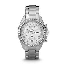 Brand New Fossil Women's Decker White Stainless-Steel Analog Quartz Watch ES2681